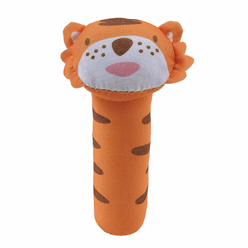 8 Colors Infant Baby Plush Rattle Toy Cartoon Animal Bell Newborn Wrist Rattle Stroller Accessories Baby Toys Educational Toys