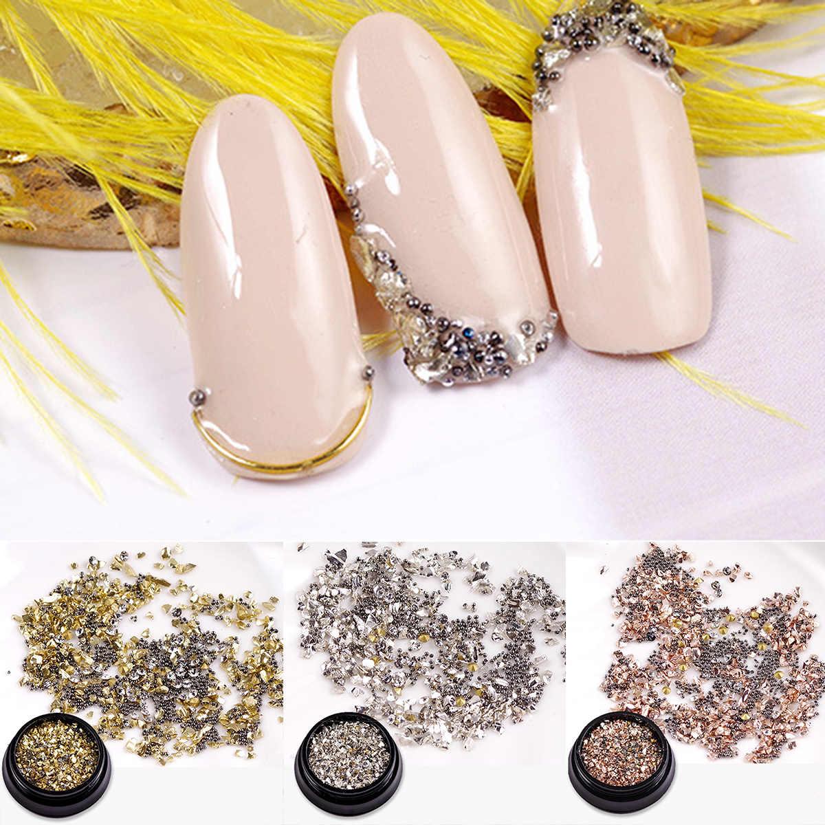 3D ネイルアート装飾ラインストーンスパークルラインストーン爪カッターヒントマニキュアツールミックス宝石デザイン UV ジェルネイルのヒントデコレーション Diy