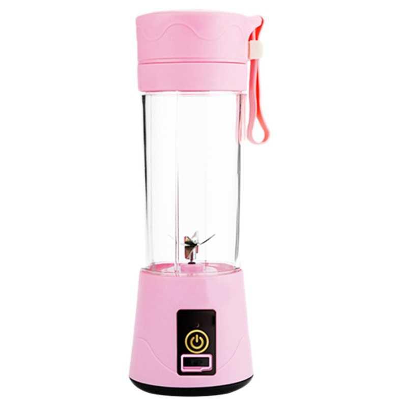 380 ml portátil espremedor usb recarregável 6 lâminas juicer smoothie liquidificador misturador da máquina mini copo de suco