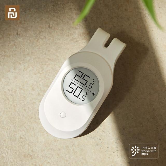 Умный термометр Qingping Cleargrass LEE Guitar с датчиком температуры и влажности, цифровой термометр с Bluetooth и ЖК дисплеем, работает с приложением Mijia