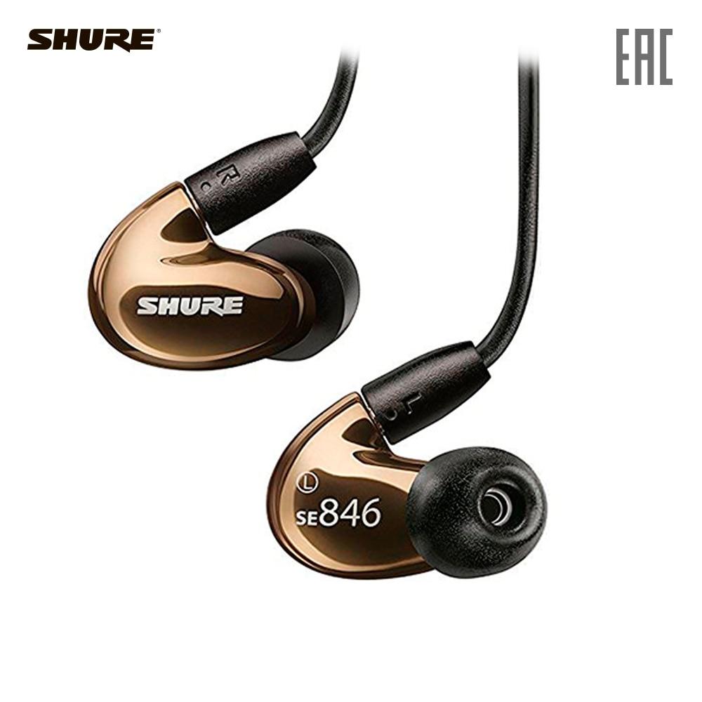 Earphones & Headphones SHURE SE846-BNZ+BT1-EFS Consumer Electronics Portable Audio Earphone Headphone headset for phone computer наушники shure se846 cl bt1 прозрачный