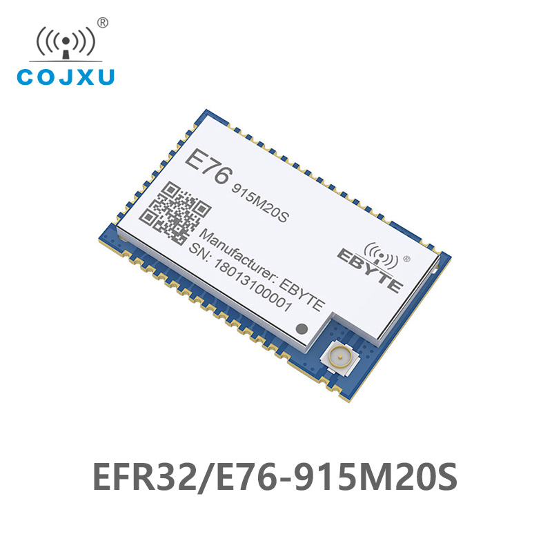 E76-915M20S EFR32 915MHz Cdebyte Rf Module Wireless Module  2500m SoC Communication Interface ARM 915 MHz Transmitter Receiver
