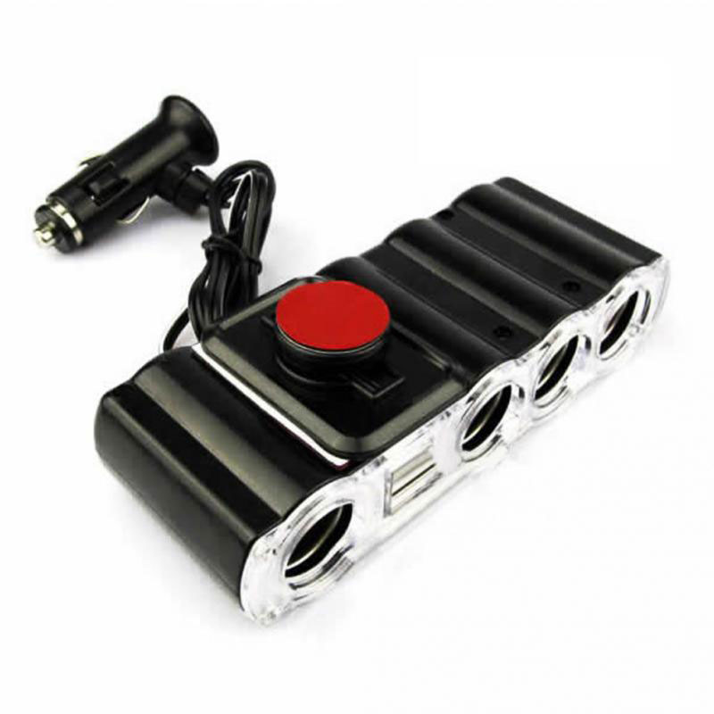 Auto Car Cigarette Lighter Splitter 4 Port in 1 High Quality Potable Multi Socket USB Plug Adapter Charger