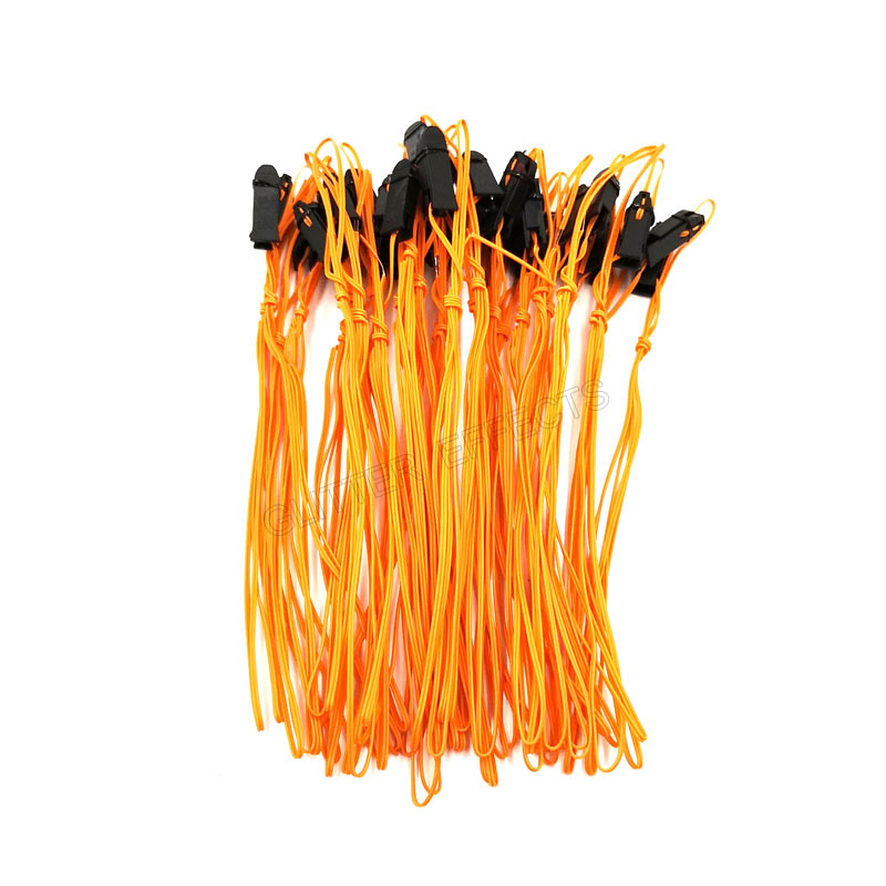 100pcs 1m Copper Wire Orange Color Talon Ignition Wire For Fireworks Firing System Firing Device