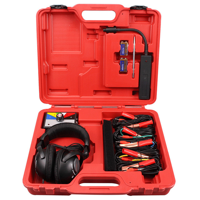Combinazione Kit stetoscopio elettronico meccanico Auto strumento diagnostico rumore strumenti meccanici automatici a sei canali
