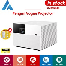 Projecteur Xiaomi Fengmi Vogue Full HD 1080P 8K DLP 1500ANSI 2 Go 32 Go MIUI TV Bluetooth WIFI Projecteur Home Cinéma Android Amlogic 1.1: 1 HDR10 200 pouces 3,5 mm HDMI, LAN, SPDIF, Projection latérale USB
