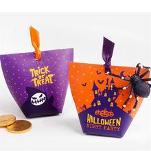1/10/20/50 Pcs Candy Paper Bag Halloween Gift  Bags Box Decoration Cookies Package Biscuits Snack Baking