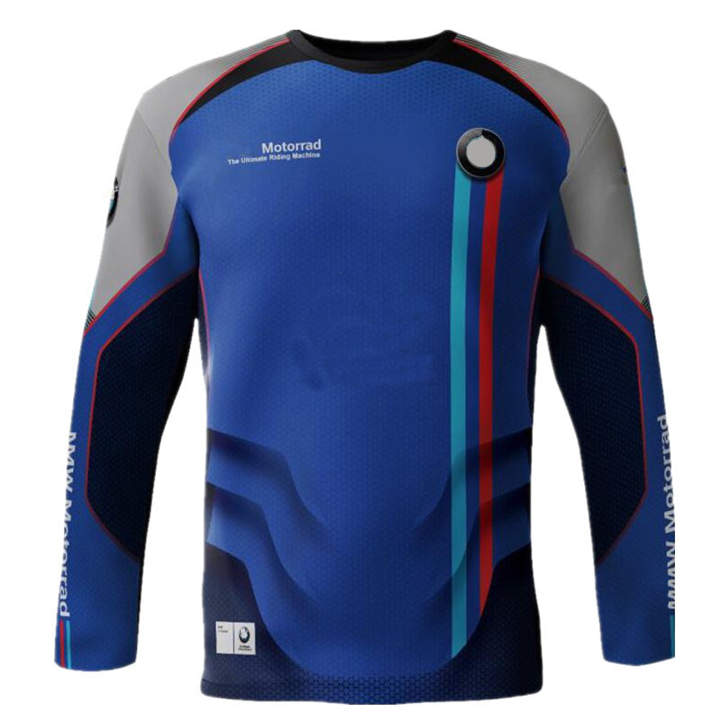 Sports Riding Bicycle Cycling Motocross Jersey Off Road Motorcycle Breathable Shirts For BMW DH XC Dirt Bike Long Sleeve Jerseys|Shirts & Tops|Automobiles & Motorcycles - title=
