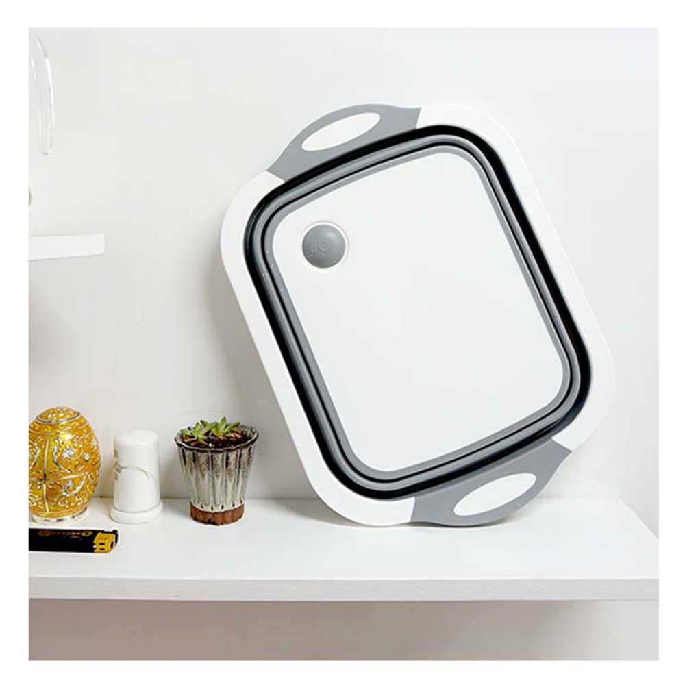 Kitchen Chopping Block Foldable Cutting Board with Colanders Kitchen  Chopping Boards Washing Basket Drain Kitchen Organizer