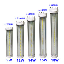 Diffused-Cover Pll-Lamp Led-Tube-Light 2G11 Epistar Smd 220V White 9W 12W 18W 15W 14W