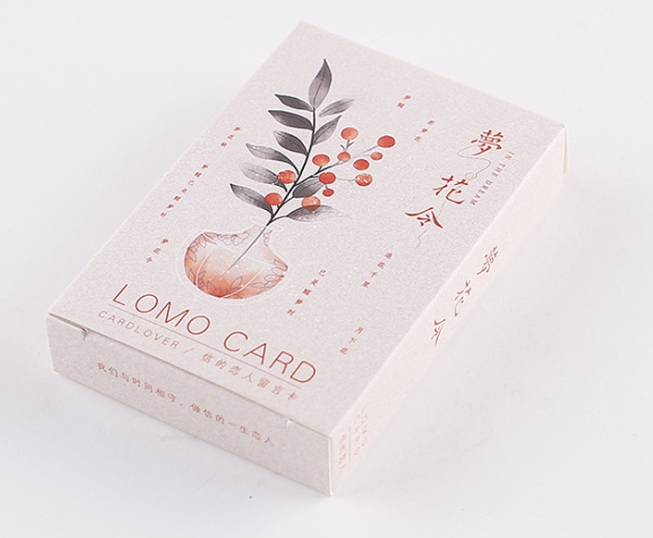 52mm*80mm Dream Flower Paper Greeting Card Lomo Card(1pack=28pieces)
