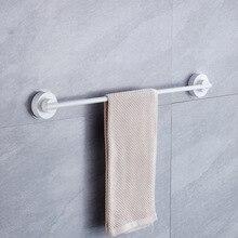 цена Bathroom Single Stainless Steel ABS Towel Bar Punch Free Strong Suction Cup Towel Holder Wall Mounted Nail-Free Towel Rack онлайн в 2017 году
