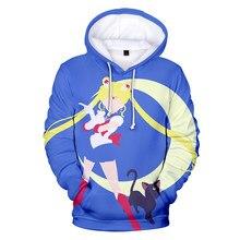 Clásico de 2021 Aikooki-Luna de marinero de los hombres/mujeres/niños 3D chándales con capucha de moda marinero Luna 3D sudaderas con capucha sudadera para mujer