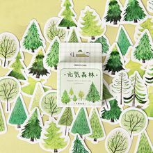 Green Plants Forest Paper Small Diary Mini Japanese Cute Box