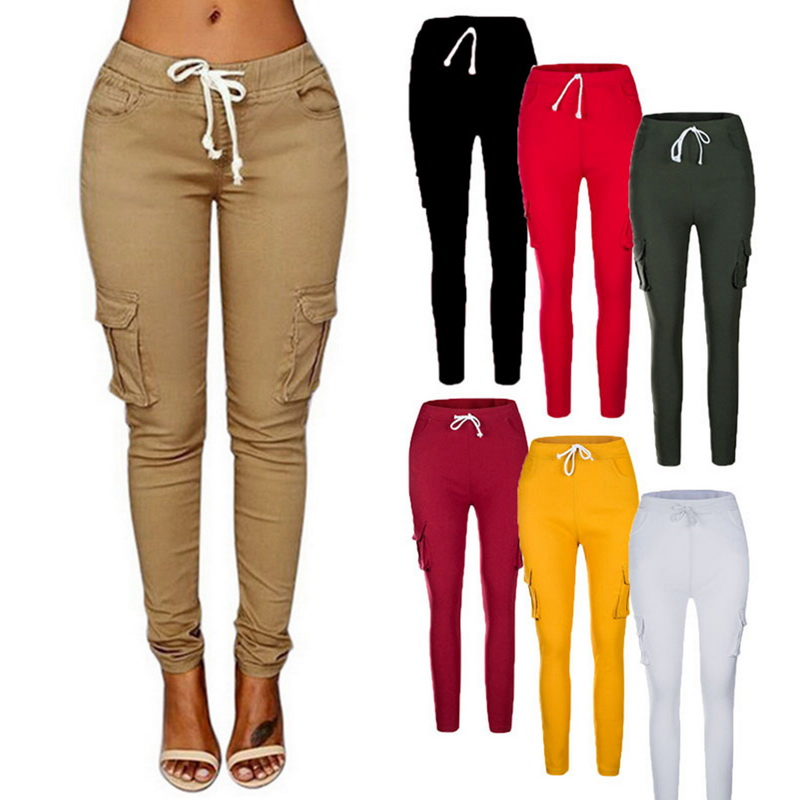 High Quality Women Cargo Pants Sexy Ladies Casual Harem Tactical Pant Women Military Clothing Multi-Pocket Joggers Sweat Pants