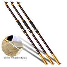 Super light hard carbon fiber telescopic rotating fishing rod 1.8 / 2.1 / 2.4 / 2.7 / 3.0 M portable travel fishing rod
