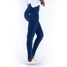 Mallas de realce con cremallera azul oscuro para mujer, Leggings Sexy, Jeggings de talle alto, con cremallera, Super cómodo, talla grande