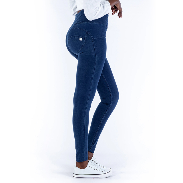 Melody High Rise Sexy Push Up Jeggings Dark Blue Zipper Fly Super comfortable Pencil Leggings For Women Plus Size Leggings mujer
