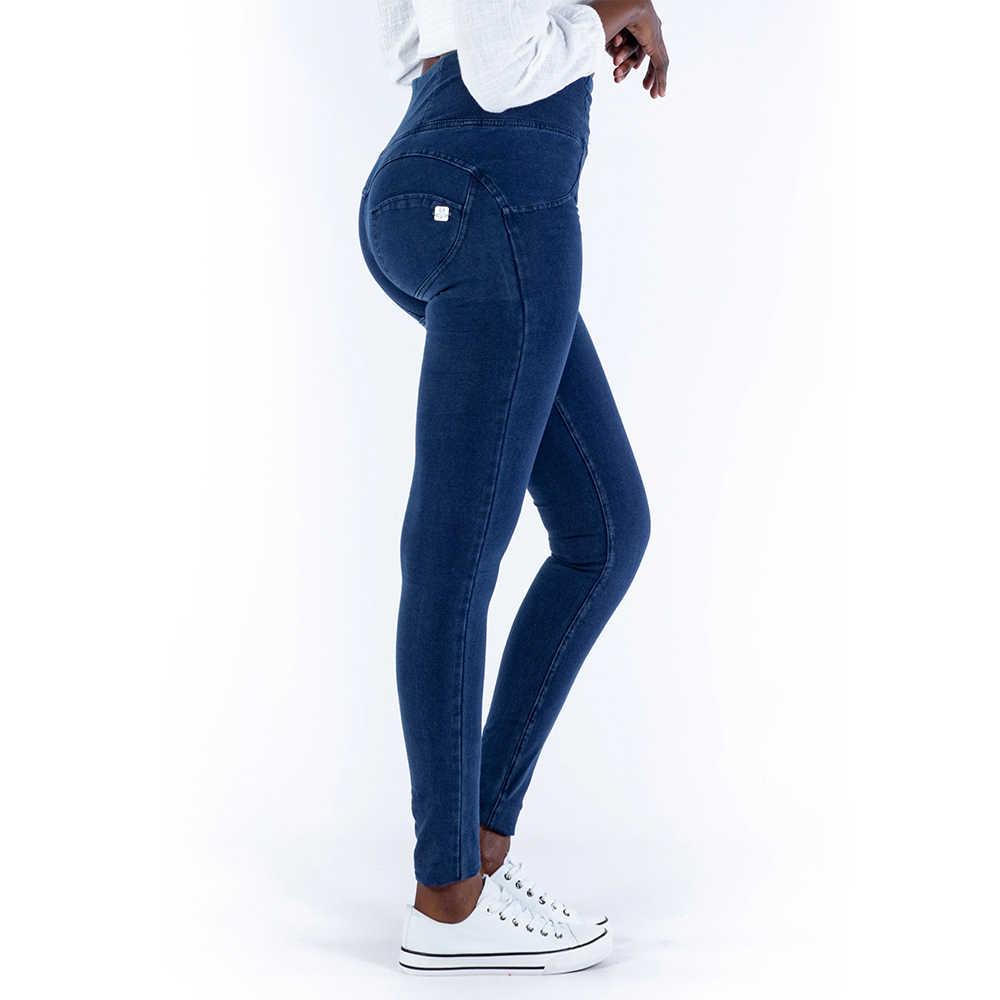 Melody high rise sexy push up jeggings azul escuro zíper voar super confortável lápis leggings para mulher mais tamanho leggings mujer