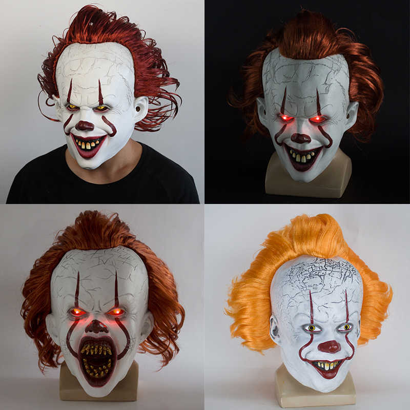 Masque It King's masque Stephen, masque de Clown d'horreur Pennywise, masque de Clown, accessoires de Costume Cosplay d'halloween