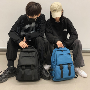 Image 2 - HOCODO Backpack For Women Solid Color School Bag For Teenage Girls Shoulder Travel Bag Multi Pocket Nylon Back pack Mochila 2019