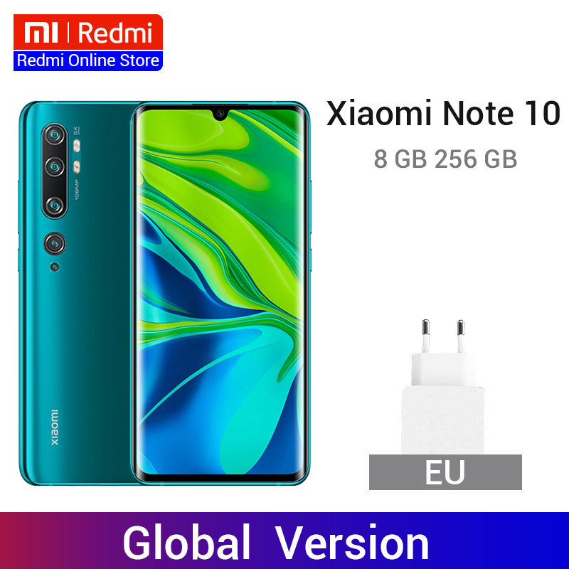 Global Version Xiaomi Mi Note 10 8GB 256GB 108MP Penta Cameras Smartphone Snapdragon 730G Octa Core 5260mAh 30W Fast Charge NFC