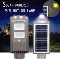 LED Solar Lamp 60W Powered PIR Motion Sensor Wall Light Waterproof Outdoor Garden Flood Light Road Street Pathway Security Lamp