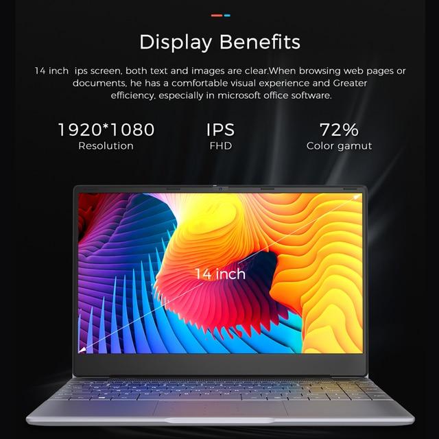 KUU K2S For Intel Celeron J4115 14.1-inch IPS Screen All Metal Shell Office Notebook 8GB RAM 256GB/512GB SSD with type C laptop 2