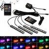 Bande lumineuse RGB LED pour intérieur de voiture, lumière d'ambiance, Flexible, colorée, LED avec télécommande musicale, led