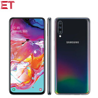 New Samsung Galaxy A70 A7050 8GB RAM 128GB ROM LTE Mobile Phone 6.7 Snapdragon 675 Octa Core 20:9 Water Drop Screen NFC Phone