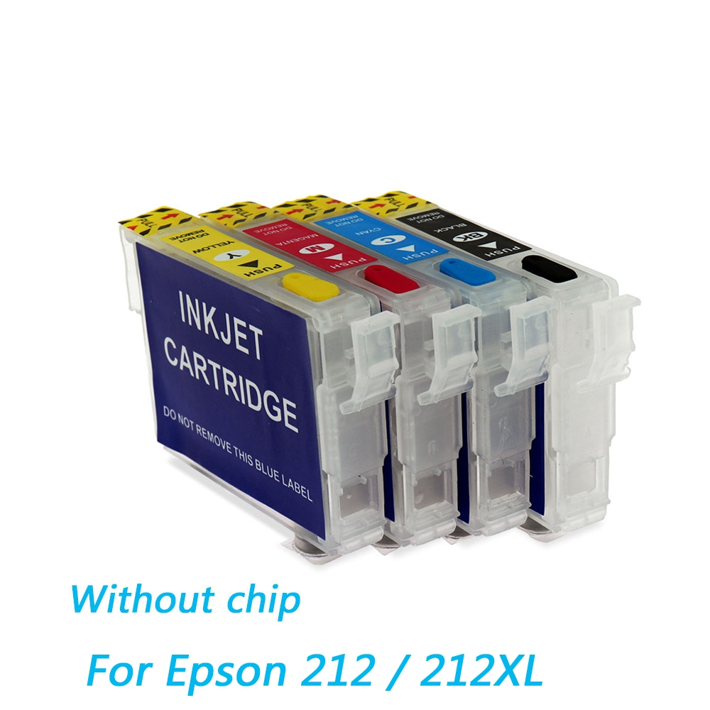For Epson 212 212XL Refillable Ink Cartridge For Epson WF-2830 WF-2850 XP-4100 XP-4105 Printer Ink Cartridge Without Chips