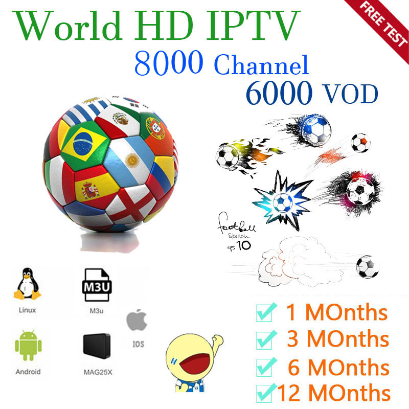World IPTV  8000 Live 6000 VODIPTV  Smarters IPTV IPTV USA  Europe Subscription With  TV  For  M3u Android Enigma2 Smart TV PC