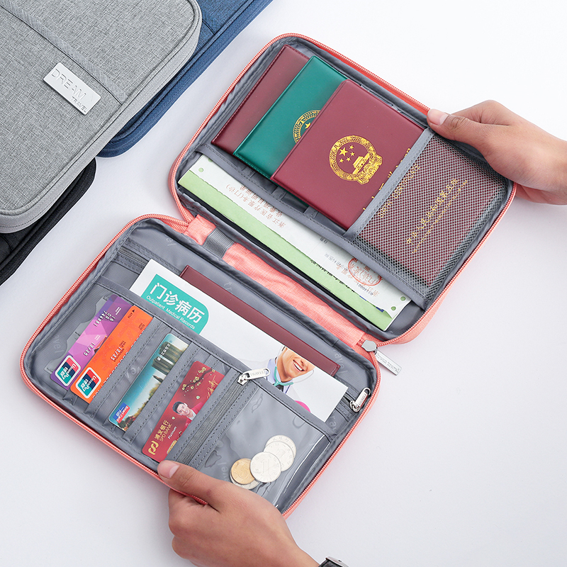 LOOZYKIT Travel Passport Bag Holder Document Case Waterproof Card Package ID Credit Card Holder Organizer Travel accessories