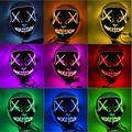 43 цвета, страшный Хэллоуин, косплей, светодиодный светильник, маска для лица, маскарадный декор, светодиодный светильник, светящаяся в темно...