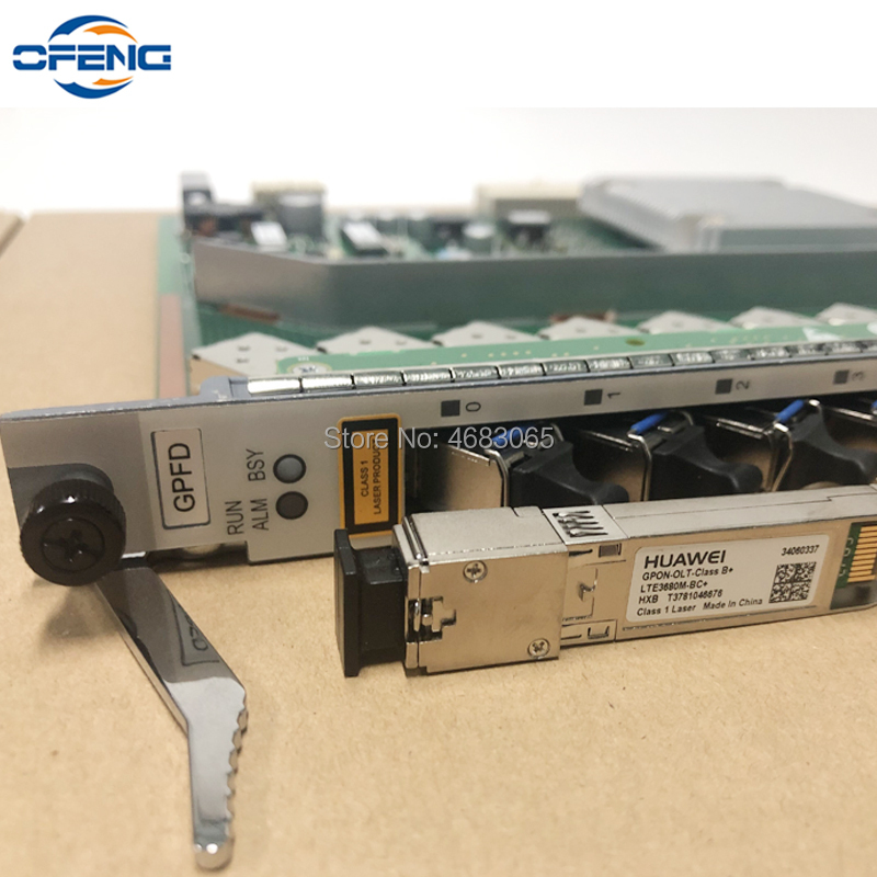Huawei GPON OLT Board 16 Ports service board GPFD with B+ SFP Modules use for GPON OLT Huawei MA5680T MA5608T