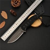 Ao ar livre faca tático faca de sobrevivência camping ferramenta faca de caça coleção faca reta A2 aço de alta dureza