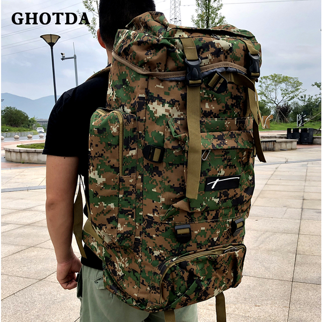 GHOTDA Fishing Bag Tackle Backpack Lightweight Large Capacity