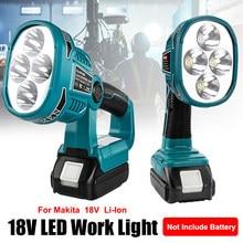 Lanternas portáteis 12w 18v luz de trabalho apto para makita li-ion bateria ao ar livre iluminação de emergência lanterna holofotes lâmpada led