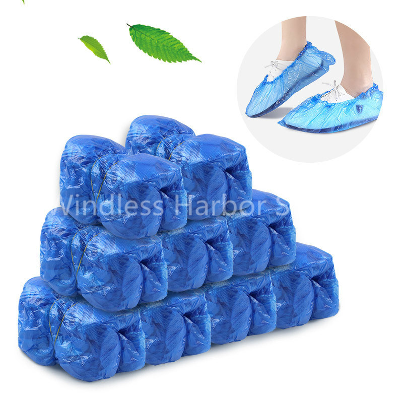 Anti Slip Disposable Shoe Covers Waterproof Overshoes Dustproof Reusable Boot Cover Dispense for Home, Rainy, Factory Protective