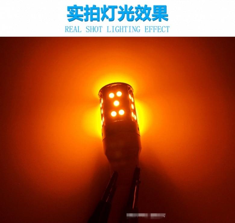 2PCS Car Turn Signal LED Command light headlight modification 12V 10W 6000K  For Toyota Land Cruiser LC200 2010-2019