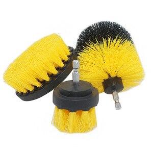 Image 4 - 3 peça conjunto de detergente banheira escova carro pp cerda broca acessório ferramenta limpeza banheira carro esteira ferramenta limpeza elétrica