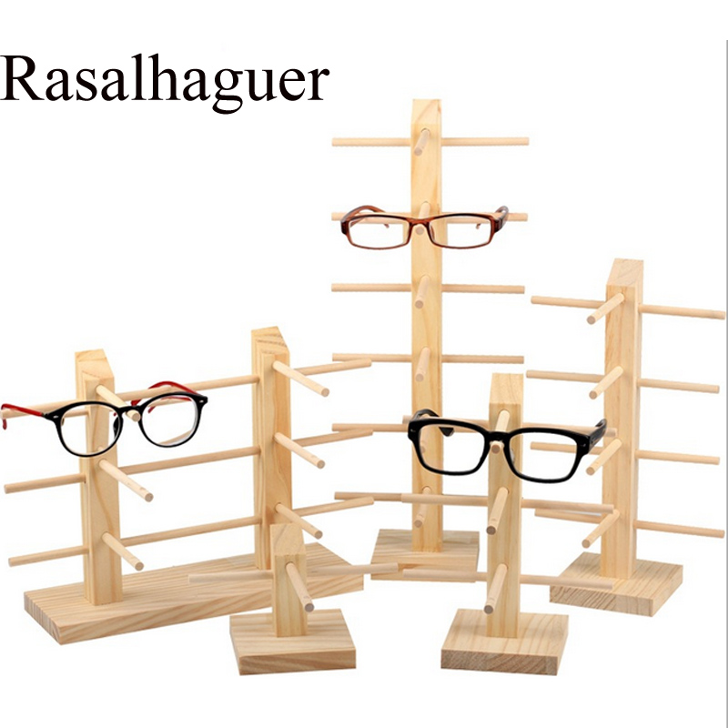New 9 Sizes Multi Layers Sun Glasses Natural Wooden Display Eyeglasses Stands Shelf Glasses Holder Worked Great Assemblable