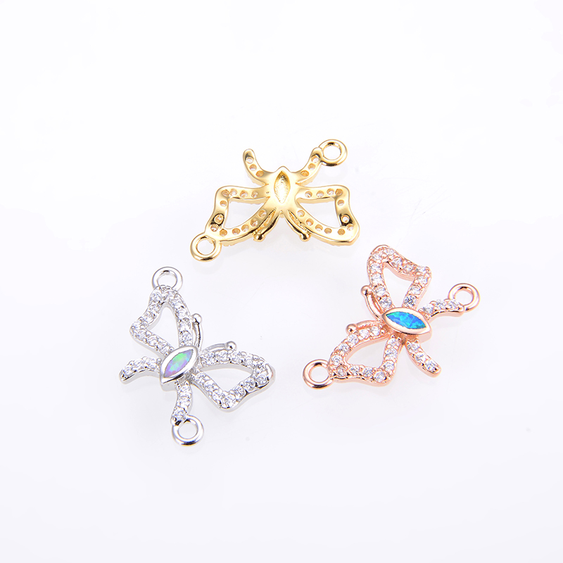 KAMAF the new of 2019 Diy jewelry butterfly pendant necklace female charm accessories connector