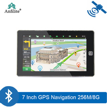 7 inch capacitive screen 800MHZ car truck gps Navigation DDR3 256M 8GB FM Transmitter CE 6 0 800*480 MTK vehicle GPS navigator cheap Anfilite 800x480 Vehicle GPS Units Equipment MP3 MP4 Players Radio Tuner Touch Screen Charger Bluetooth MTK MSB2531 ARM Cortex-A7 800MHZ