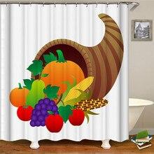 Christmas fruit horn print bathtub waterproof curtain polyester fabric shower curtain bathroom decoration christmas balls waterproof fabric shower curtain