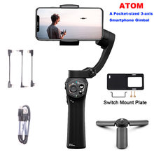 Foldable Pocket 3-Axis Handheld Gimbal Stabilizer for iPhone XS Max XR X 8Plus 8 Samsung XiaoMi Smartphone GoPro 6 5(China)