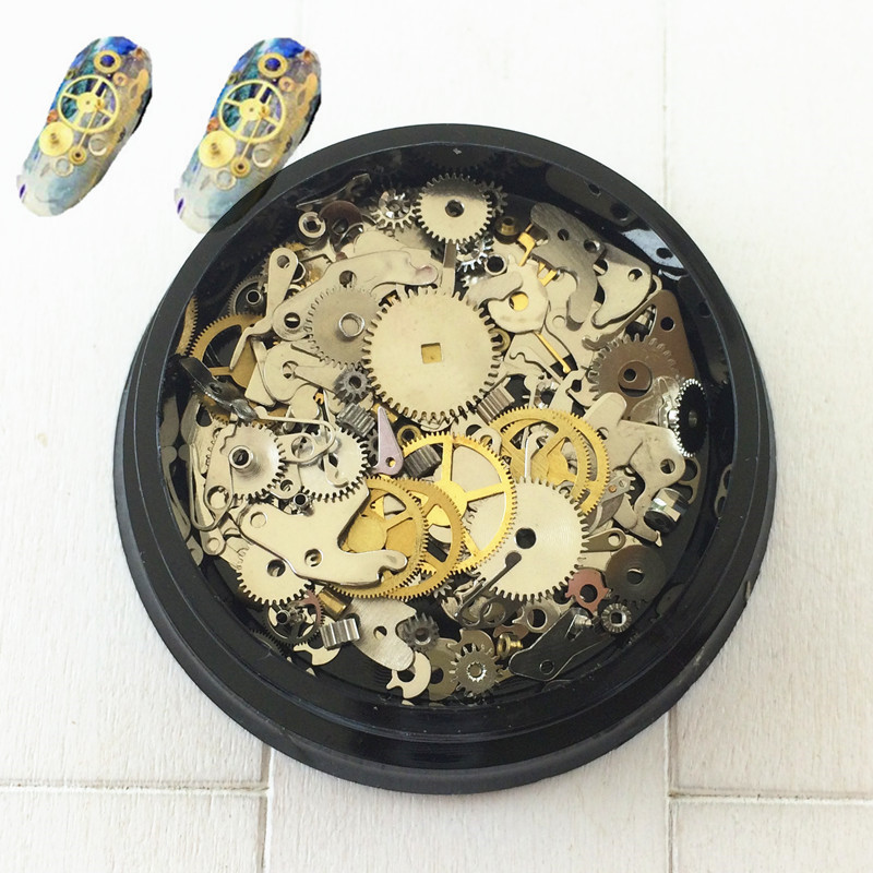 Japanese-style Manicure New Style Metal Nail Ornament Time Punk Machinery Gear Mixed-Set Steam Nail Sticker