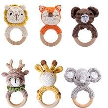 Wooden Toys Bracelet Crib-Ring Crochet Rattle Safe Baby-Product Mobile-Pram Bopoobo DIY