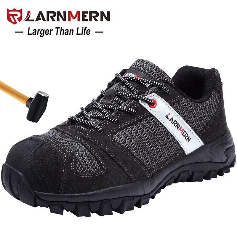 LARNMERN męskie ze stali Toe buty robocze BHP Lightwieght oddychające Anti smashing Anti przebicie budowy obuwie ochronne w Obuwie robocze i ochronne od Buty na  Grupa 1