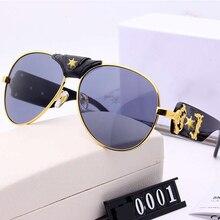 Luxury Oversized Punk Sunglasses Women 2020 Vintage Steampunk Pilot Sun Glasses